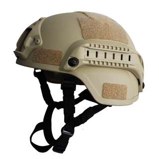 MICH 2000 Tactical Helmet with NVG Mount & Side Rail TAN