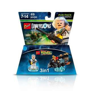 BOZHI™ 98070-3 Dimensions 3in1 Back To The Future Doc Brown
