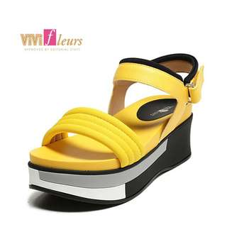 🚚 Daphne/達芙妮Vivifleurs夏季厚底鬆糕平底舒適女涼鞋全新清倉 挑戰最低價 任選3雙免運費