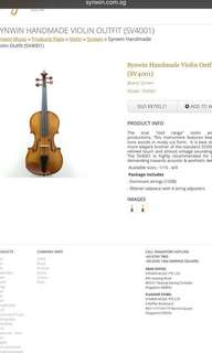 Used Synwin 4001 3/4 violin