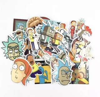 🚚 RICK AND MORTY STICKERS