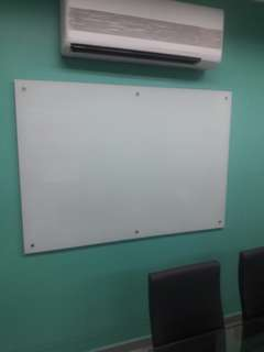 Glass whiteboard tempered size 3'×5'