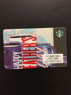 Starbucks Card - US Father's Day 2018 Card