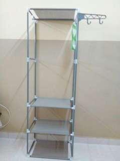 DIY Wardrobe Storage Stainless Steel Rack Organizer Cabinet