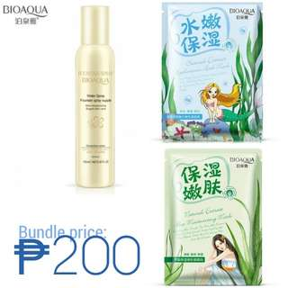 Bioaqua bundle Moisturizing spray, Facial masks