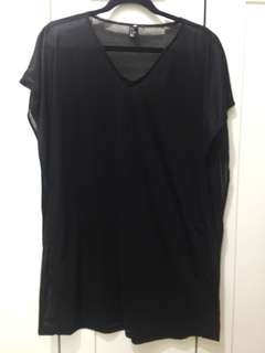 H&M oversized black shirt