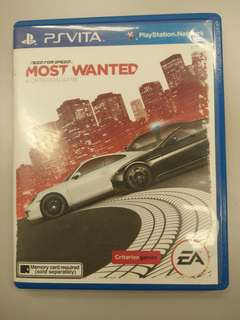 PS Vita game most wanted