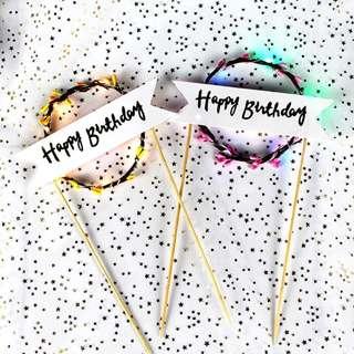 "Cake Deco - ""Happy Birthday"" LED Lights - 3 different mode"