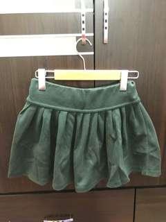 綠色修身棉裙
