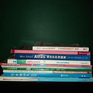 中學二手教科書 (每本$5!!)