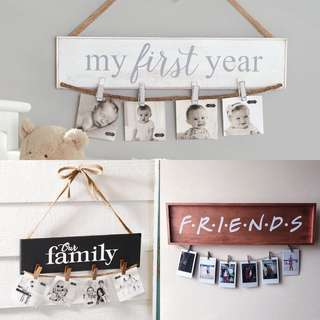 Customisable / Personalised / Perfect gift for Family Friend Plaque Photo Holder / Birthday Gift / Anniversary Gift / Surprise Gift / Housewarming Gift / Thank You Gift / Farewell Gift / Baby Gift / First Birthday