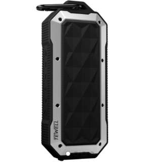 TEWELL Surfing Waterproof Portable Speaker with 6W Output from Dual Drivers, Enhanced Bass,IPX7 Water Resistance and Built-in Mic, Rugged Wireless Speaker