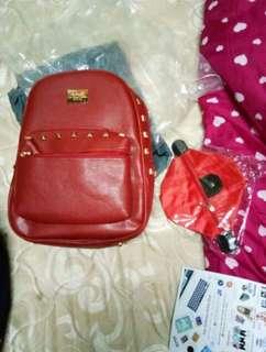 Korean Backpack Leather Women Fashion Sling Shoulder Bag