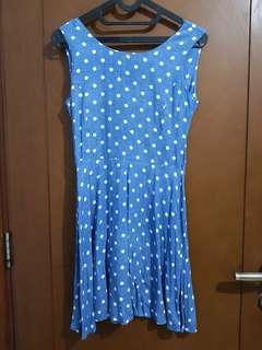 dress polkadot size S fit to M