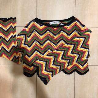 Zara Knit rainbow sweater