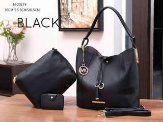 Michael Kors Tote Bag 3 in 1 Black Color
