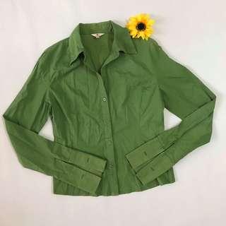 Green Button-up Shirt