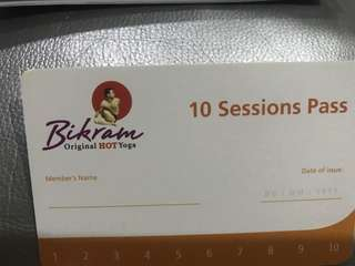 Bikram hot yoga 10 sessions pass