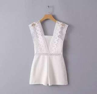 [BNWT] Classy Cute White Lace Romper