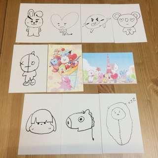 BT21 Japanese Ver. Postcards
