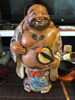 日本回流老九谷燒布袋和尚