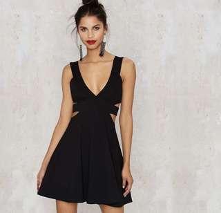[BNWT] Sexy Cut In Black Dress