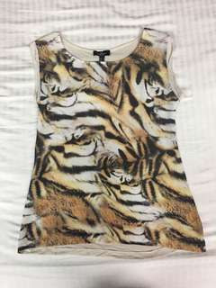 Mango Tiger print top