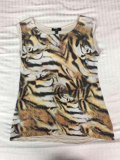 Mango Tiger print top