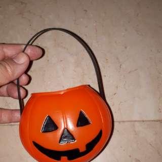 Trick or treat pumpkin basket