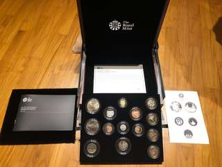 2015 United Kingdom premium proof coin set by the Royal Mint