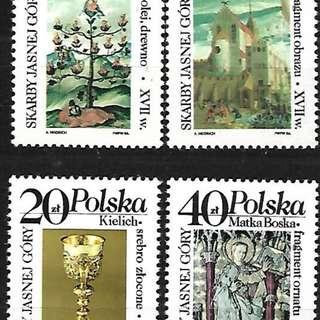 波蘭1986亞斯奈格修道院文物4全新