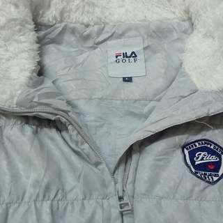 Fila golf puffer down long vest