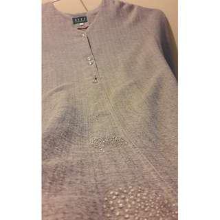 🔴PLUS SIZED Grey Jubah/Baju Raya