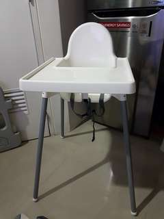 Ikea antilop high chair with table