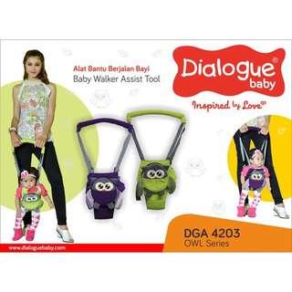 Dialogue alat bantu jalan bayi owl series warna hijau / baby walker assist tool (DGA 4203)