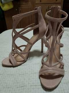 ALDO light pink heels (used once)