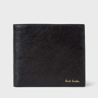 Paul Smith Men's Black Grained Leather Billfold Wallet