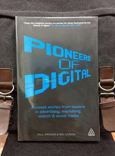 # Highly Recommended《New Book Condition + Advice & Inspiration For 21st-Century Leaders In Online Platform》Paul Springer & Mel Carson - PIONEERS OF DIGITAL : Success Stories from Leaders in Advertising, Marketing, Search and Social Media