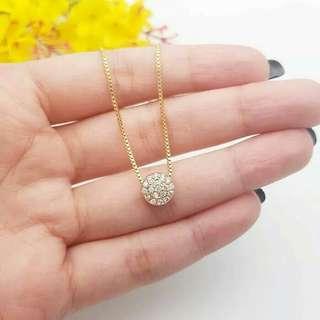 Circle cartier necklace mirip dengan mas aslinya