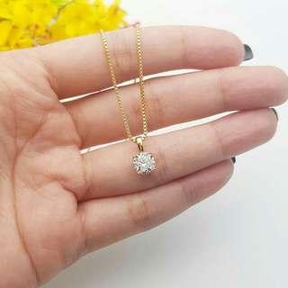 Kalung Lil Diamond mirip dengan mas aslinya
