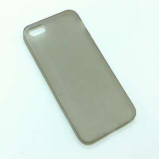 iphone 5 5S 5SE 透明灰磨沙軟膠殼 translucent plastic phone case
