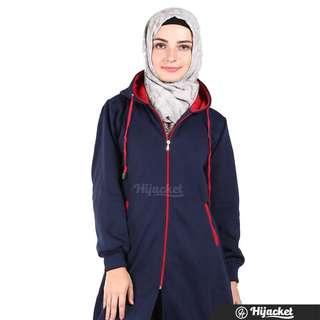 Hijacket Jacket Muslim Wanita Hijab    Navy-Red Series Size Xl