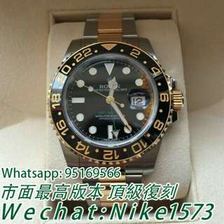 Rolex 勞力士 潛航者日歷型 116613LN 間金黑水鬼機械錶