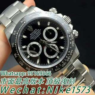 Rolex 勞力士116500LN-78590 宇宙計型迪通拿黑盤腕錶 熊貓迪計時機械錶