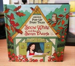 Usborne fairy tales pop up book snow white