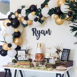 Birthday Dessert Table Deco Backdrop Event