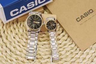 Casio couple silver waterproof watch oem