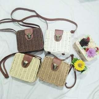 Square Rattan Bags