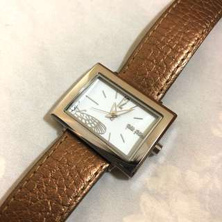 Folli Follie gold leather watch 金色女裝皮帶錶