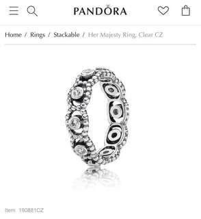 Pandora Her Majesty Ring Size 48